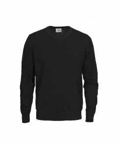Printer knitted V-neck Forehand Men Sweater